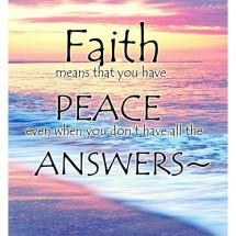 Faith gives answers