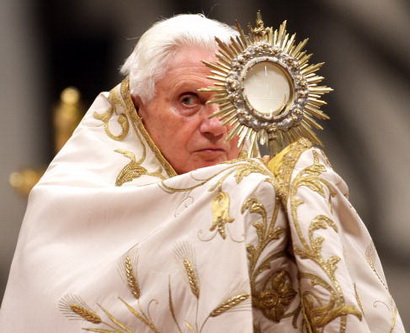 Pope Benedict XVI Celebrates First Vespers And Te Deum Prayers