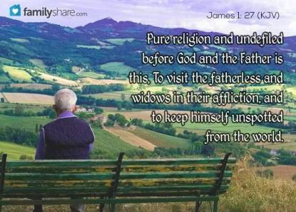 Message - Bible pure religion undefiled