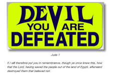 Message - God the Victory is Won the Devil is defeated